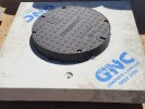 100mm Raised Class D Cast iron Storm Water Lid